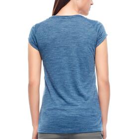 Icebreaker W's Sphere Cool Relief SS Scoop Shirt prussian blue hthr